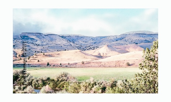 Digital art print of a photo of the John Day valley near Dayville that has been manipulated to give it a lithographic look.  Printed on archival, high quality paper.